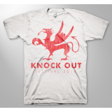 KNOCK OUT FESTIVAL «Greif white» T-Shirt