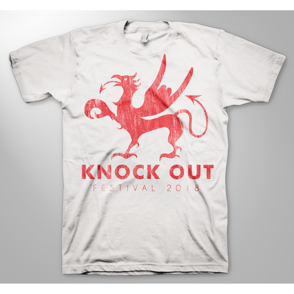 KNOCK OUT FESTIVAL «Greif white» T-Shirt X-Large